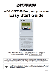 WEG CFW300 Easy Start Guide