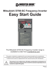 Misubishi D700-SC Easy Start Guide